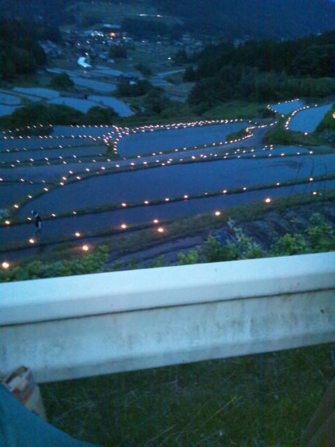 棚田灯祭り